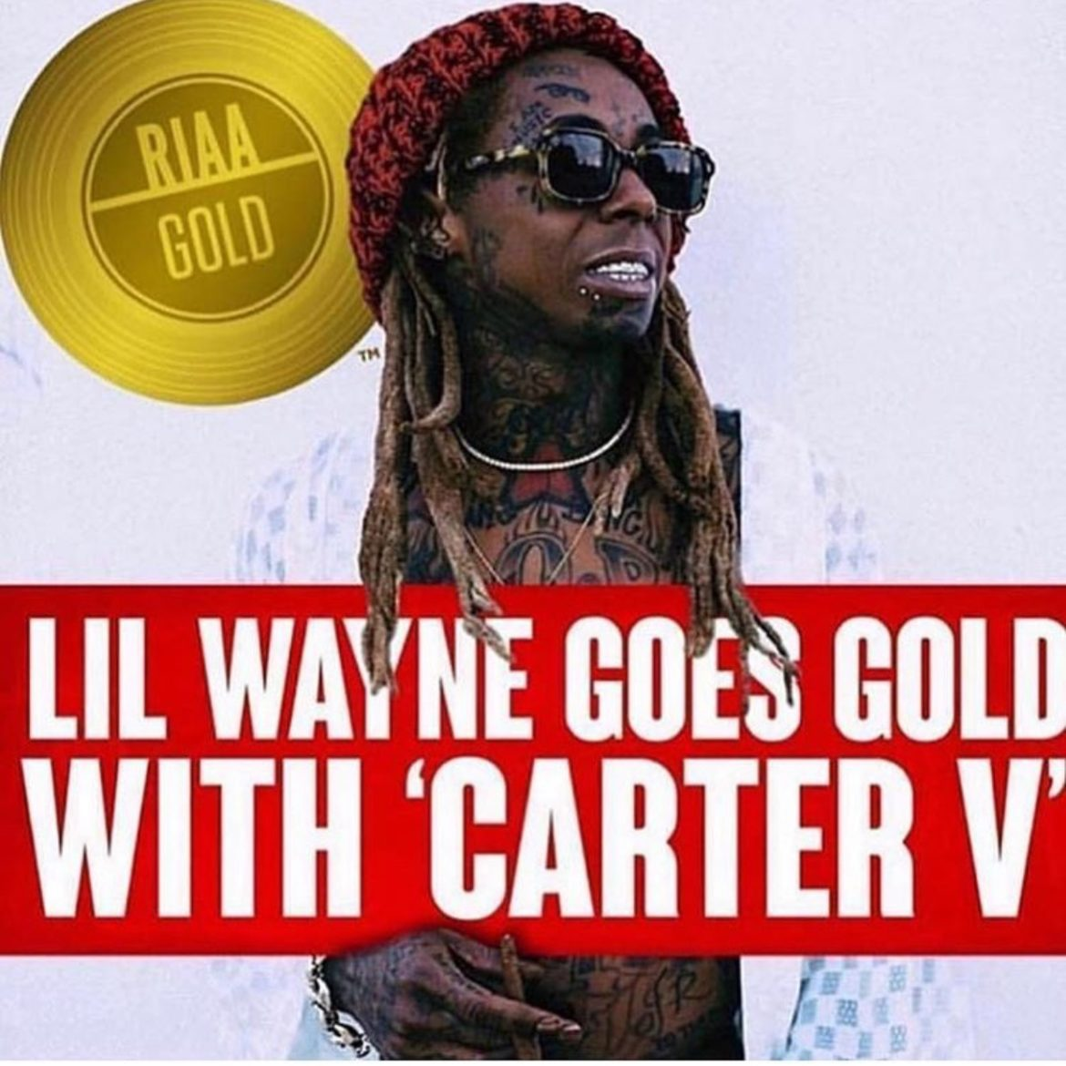 """99d8533f7b7ff Lil Wayne s """"Tha Carter V"""" is now certified Gold"""